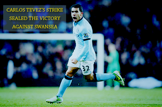 Carlos Tevez against Swansea