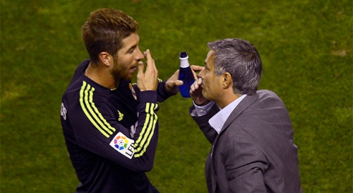 Sergio Ramos and Jose Mourinho